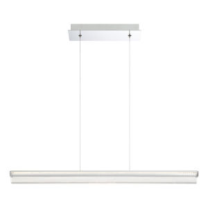 Landor Chrome LED Small Linear Pendant