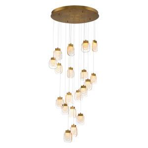 Paget Gold 19-Light LED Pendant