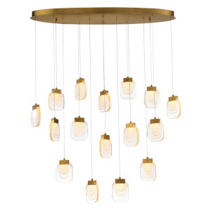 Paget Gold 14-Inch 16-Light LED Pendant