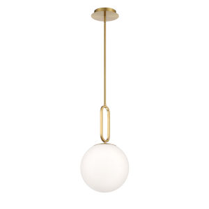 Prospect White One-Light Mini Pendant