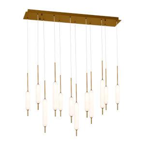 Cumberland Antique Brass 12-Light LED Pendant