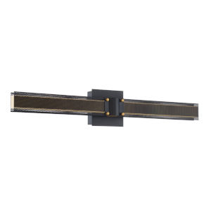 Admiral Matte Balck and Gold LED Wall Sconce
