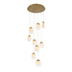 Paget Gold Nine-Light LED Chandelier