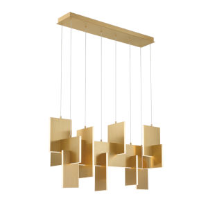 Coburg Gold LED Chandelier