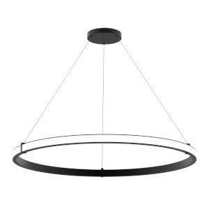 Mucci Matte Black and White 48-Inch Diameter LED Pendant