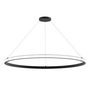 Mucci Matte Black and White 60-Inch Diameter LED Pendant
