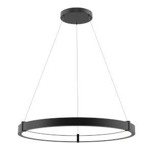 Mucci Matte Black and White 32-Inch Diamater LED Pendant
