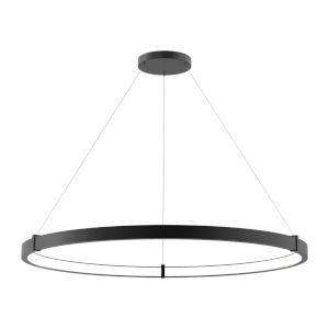 Mucci Matte Black and White 48-Inch Diamater LED Pendant