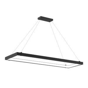 Mucci Matte Black and White Rectangular LED Pendant