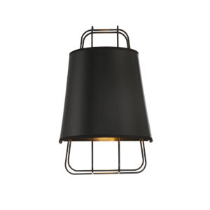 Tura Black One-Light Wall Sconce