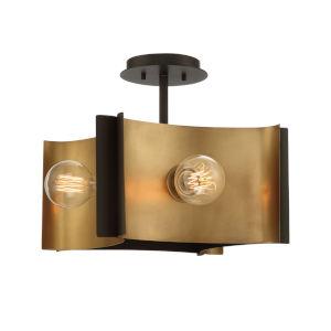 Metallo Bronze Four-Light Semi Flush Mount