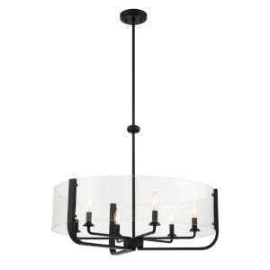 Campisi Black Six-Light Chandelier