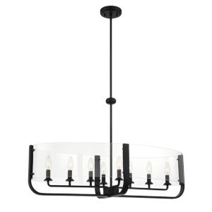 Campisi Black Eight-Light Oval Chandelier