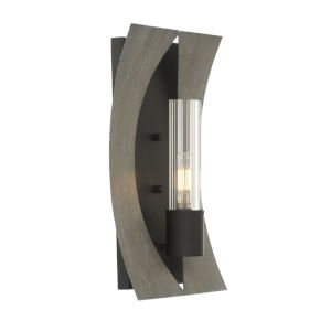 Pennino Matte Black and Gray LED Wall Sconce