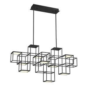 Ferro Black 40-Inch Width LED Chandelier