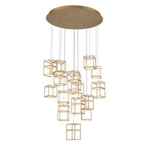 Ferro Gold LED Chandelier