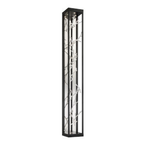 Aerie Black and Silver Six-Light LED Wall Sconce