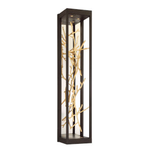 Aerie Bronze and Gold Four-Light LED Wall Sconce