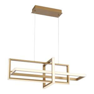Bordo Gold 13-Inch Integrated LED Chandelier