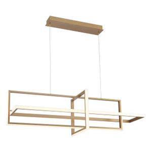Bordo Gold 16-Inch Integrated LED Chandelier