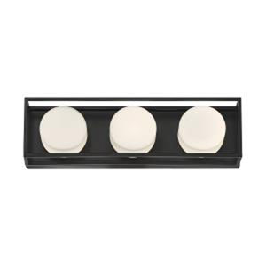Rover Black 18-Inch Integrated LED Bath Vanity