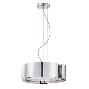 Dervish Satin Nickel Three-Light Pendant
