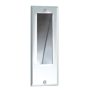 Stainless Steel In-Wall LED Step Light with Frosted Glass