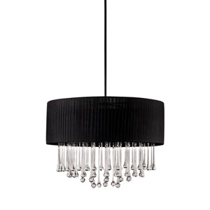 Penchant Black Six-Light 24-Inch Pendant
