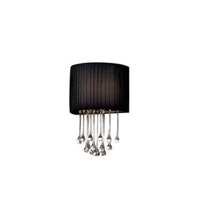 Penchant Black One-Light Wall Sconce