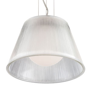 Ribo Chrome One Light Small Pendant with Clear Shade
