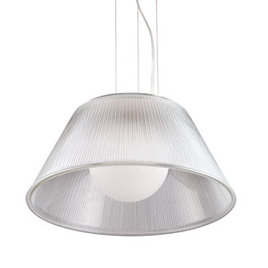 Ribo Chrome One Light Large Pendant with Clear Shade
