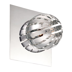 Cosmo Chrome One Light Wall Sconce with Chrome Shade