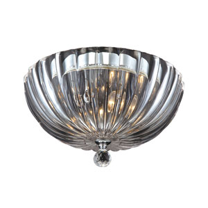 Aurora Clear Two Light Flushmount with Clear Shade