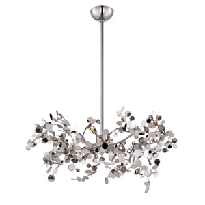 Divo Nickel Five Light Pendant