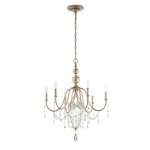 Collana Silver Leaf Six Light Chandelier