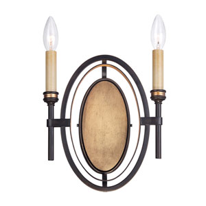 Infinity Oil Rubbed Bronze Two Light Wall Sconce