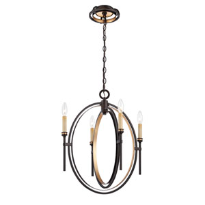 Infinity Oil Rubbed Bronze Four Light Chandelier
