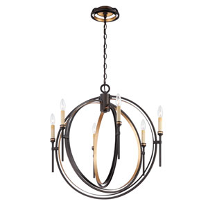 Infinity Oil Rubbed Bronze Six Light Chandelier