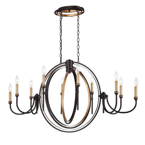 Infinity Oil Rubbed Bronze 10 Light Oval Chandelier
