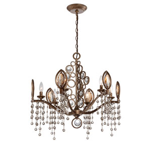 Capri Bronze Six Light Chandelier