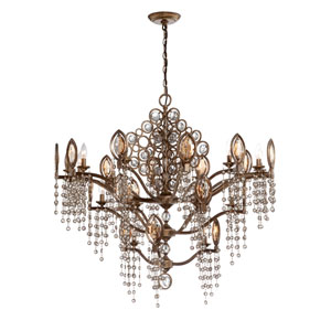 Capri Bronze 21 Light Chandelier
