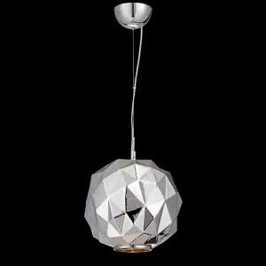 Studio Chrome One-Light 11.75-Inch Wide Pendant with Chrome Glass