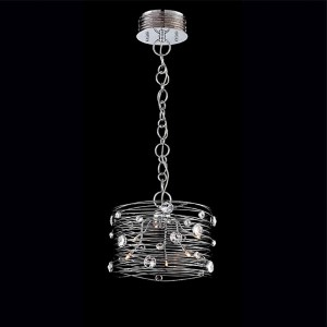 Corfo Chrome Six-Light Mini Chandelier with Clear Crystal