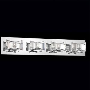 Uzo Chrome Four-Light Bath Fixture with Clear Glass