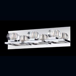 Casa Chrome Three-Light Bath Fixture with Clear Glass