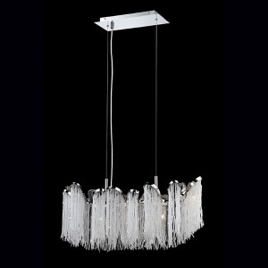 Ellena Nickel Five-Light 10-Inch Wide Mini Chandelier with Clear Crystal