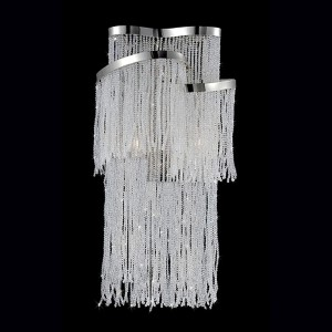 Ellena Nickel Two-Light 10-Inch Wide Wall Sconce with Clear Crystal