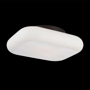Alma Bronze 10.5-Inch Wide LED Flush Mount with Opal White Glass