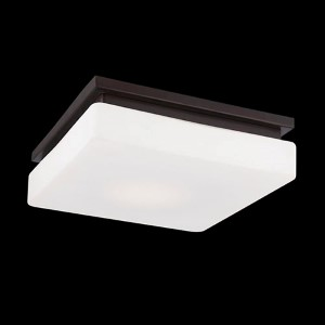 Ellsworth Bronze 11.5-Inch Wide LED Flush Mount with Opal White Glass