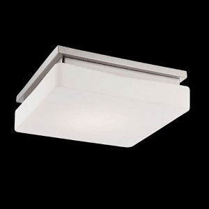 Ellsworth Satin Nickel 11.5-Inch Wide LED Flush Mount with Opal White Glass